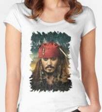Captain Jack Sparrow - Pirates of the Caribbean Women's Fitted Scoop T-Shirt