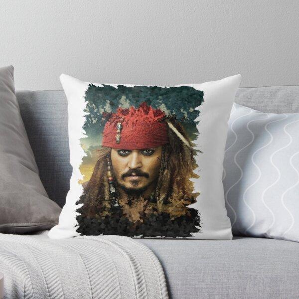 Captain Jack Sparrow - Pirates of the Caribbean Throw Pillow
