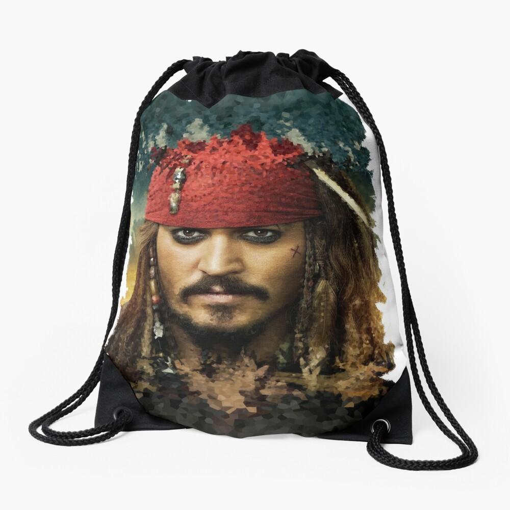 Captain Jack Sparrow - Pirates of the Caribbean Drawstring Bag