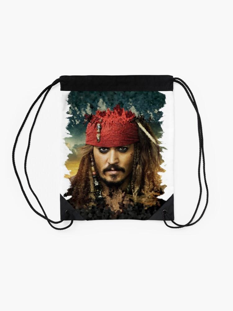Alternate view of Captain Jack Sparrow - Pirates of the Caribbean Drawstring Bag