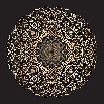 Gold Mandala by SweetSapling