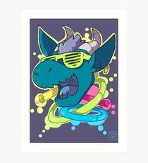Rave Dragon Art Print
