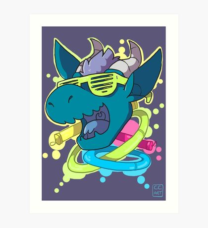 Rave Dragon Art Print