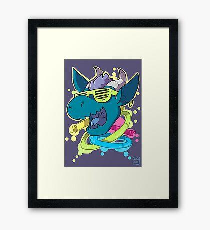Rave Dragon Framed Print