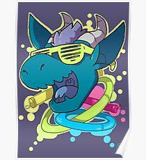 Rave Dragon Poster