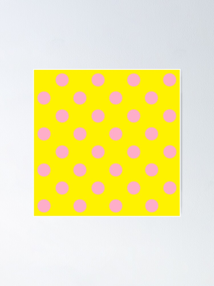 Pink Polka Dot Design On Yellow Pokerdots Poster By Thecartoonhouse Redbubble,Backyard Baby Shower Decorations Outdoor