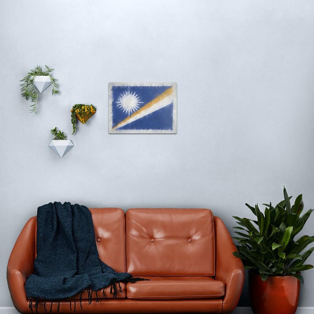 Marshall Islands Flag Reworked No. 66, Series 4 Metal Print