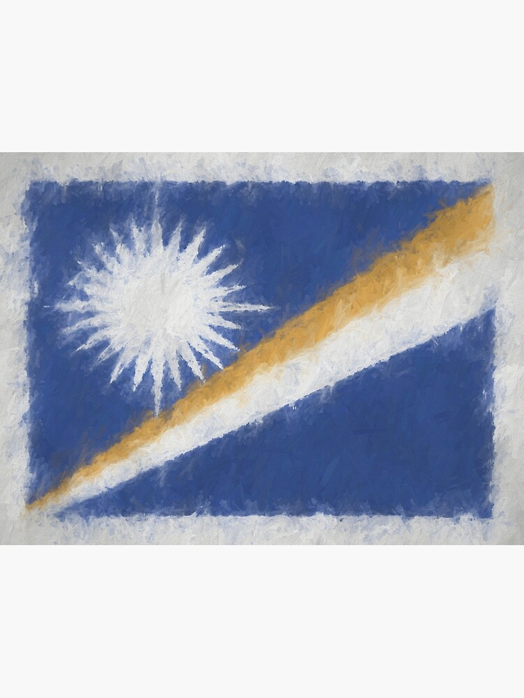 Marshall Islands Flag Reworked No. 66, Series 4 by 8th-and-f