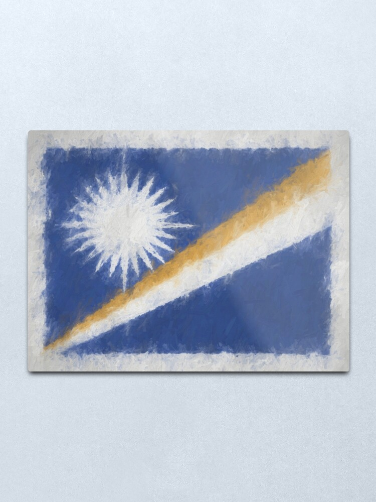 Alternate view of Marshall Islands Flag Reworked No. 66, Series 4 Metal Print