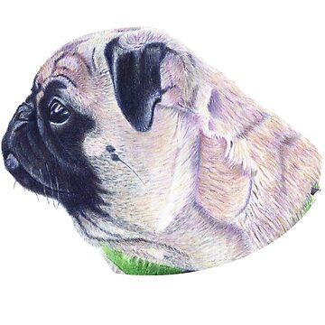 Pug Portrait T-shirt or Hoodie by Shana1065