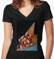 Denver Museum of Art Women's Fitted V-Neck T-Shirt