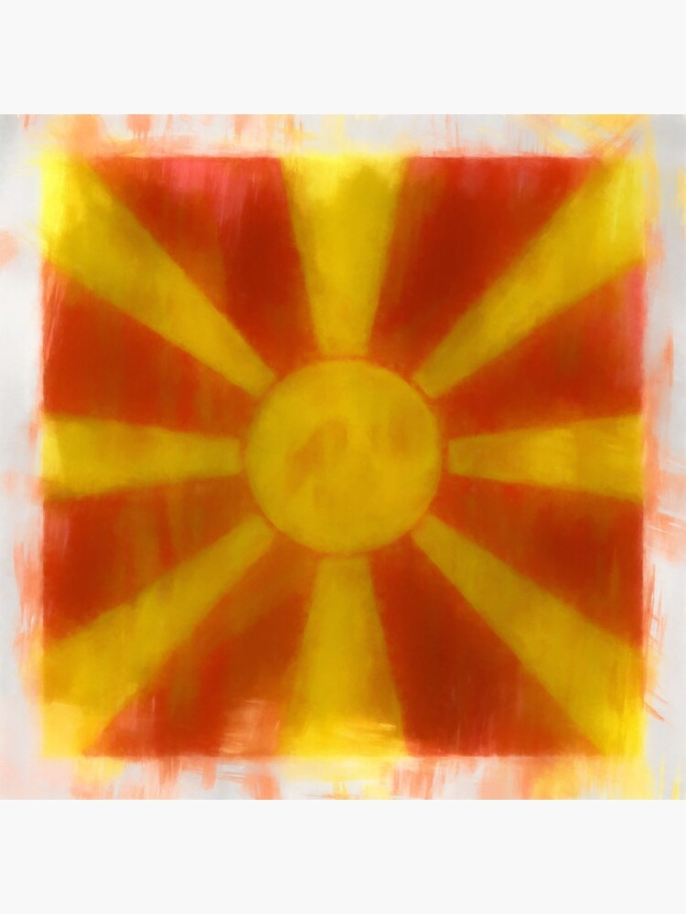 Macedonia Flag Reworked No. 2, Series 1 by 8th-and-f