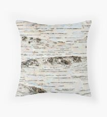 Birch Colors Throw Pillow