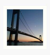 Verrazano-Narrows Bridge Art Print