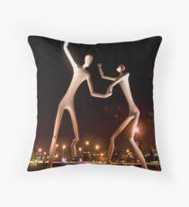 Dancers in the Dark Throw Pillow