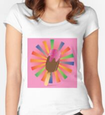 Chocolate ice cream 3 Women's Fitted Scoop T-Shirt