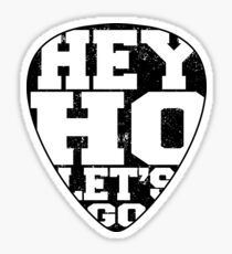 Rock and roll Hey ho let's go Sticker