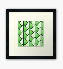 Green Pyramid Pattern Framed Print