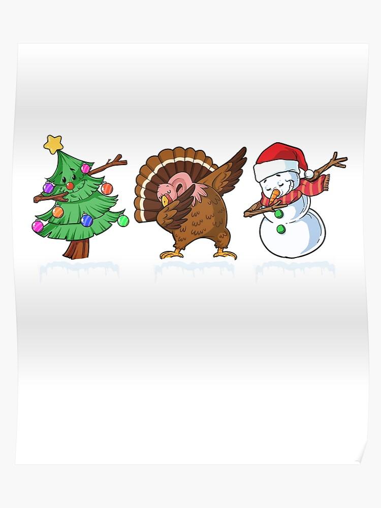 Christmas Humor Clip Art.Dabbing Christmas Humor Dab Holiday Funny Shirt Poster