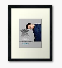 Tenth Doctor Quote Framed Print