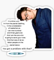 Tenth Doctor Quote Sticker