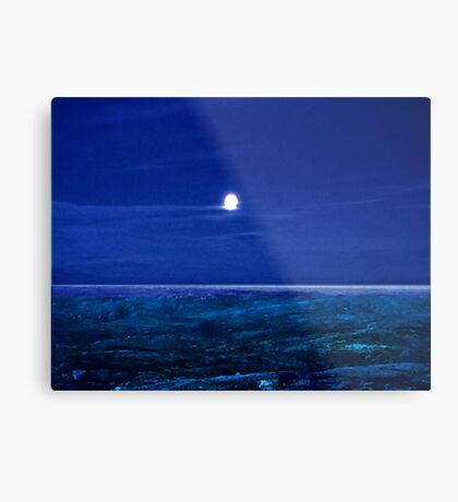 Baffin Island Moon Metal Print