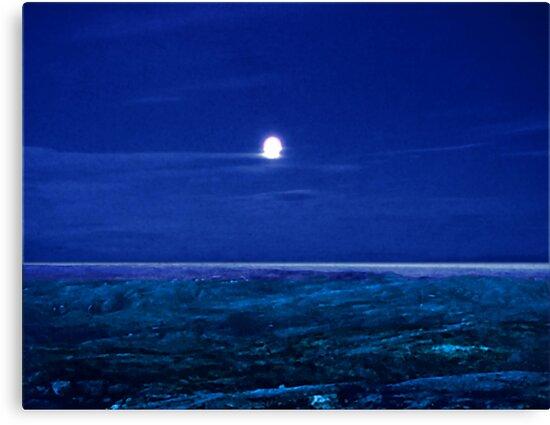 Baffin Island Moon by George Cousins
