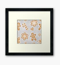 Gingerbread Christmas Cookies Framed Print