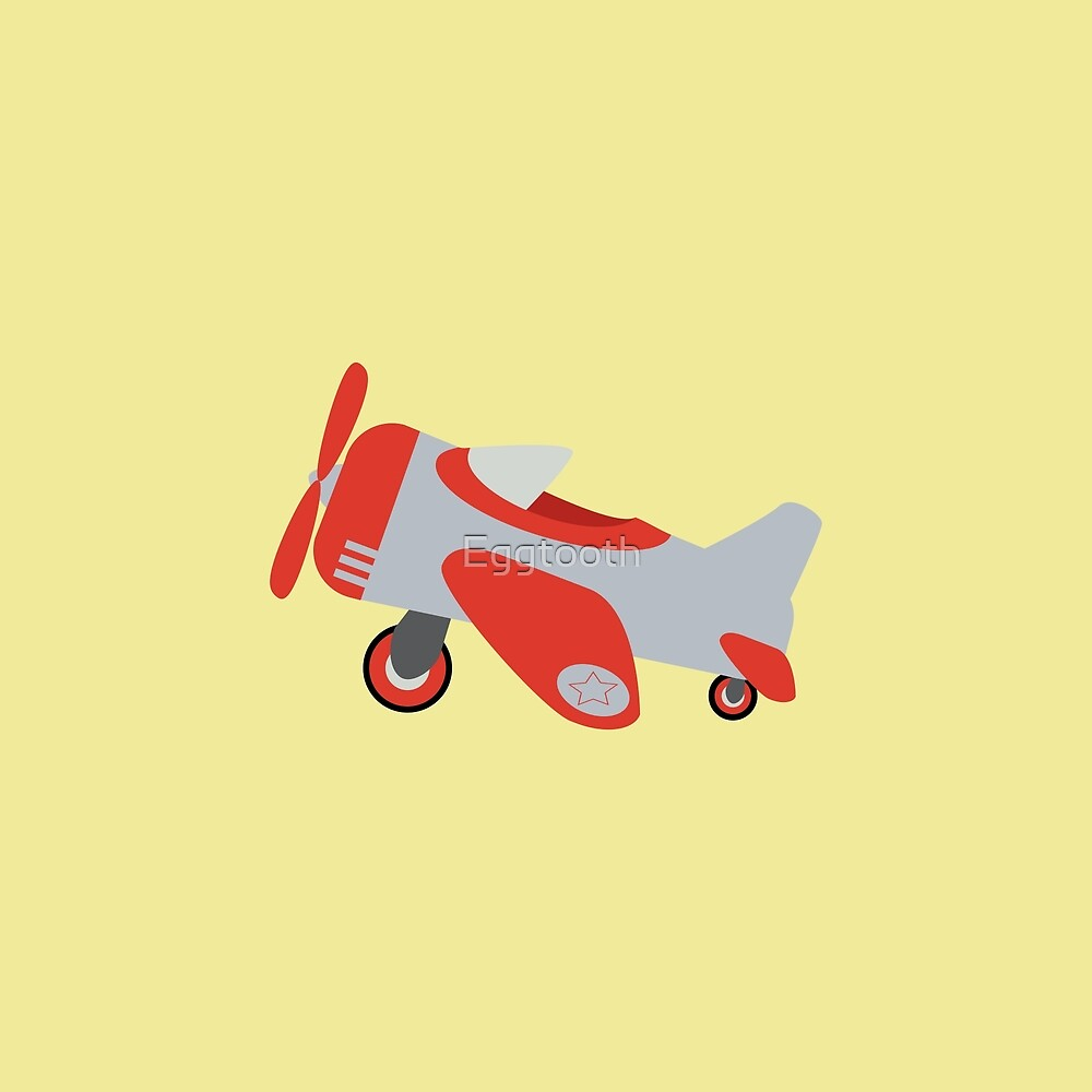 Retro Toy Airplane by Eggtooth