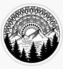 Mandala Mountain Sticker