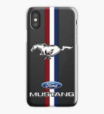 Ford Mustang Black carbon iPhone Case