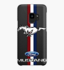 Ford Mustang Black carbon Case/Skin for Samsung Galaxy