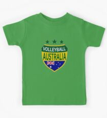 Volleyball Australian Logo Shield with Flag Kids Clothes