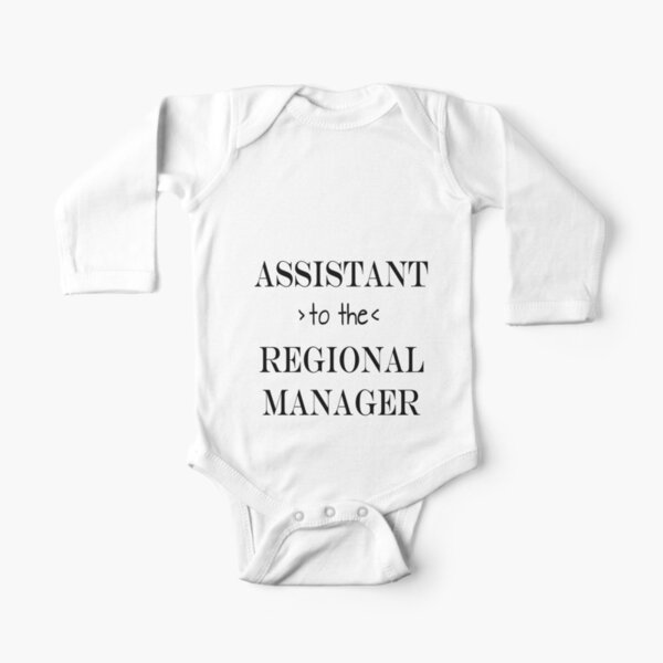 Assistant (to the) Regional Manager Long Sleeve Baby One-Piece