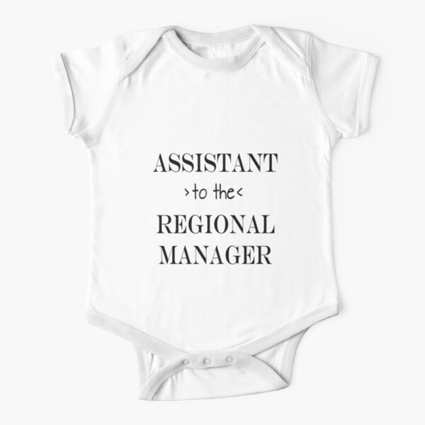 Assistant (to the) Regional Manager Short Sleeve Baby One-Piece
