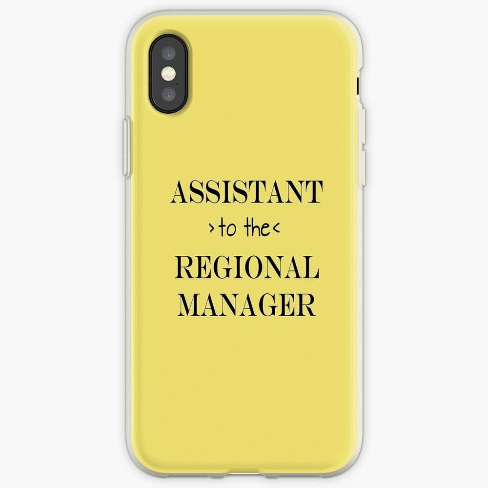 Assistant (to the) Regional Manager iPhone Case & Cover