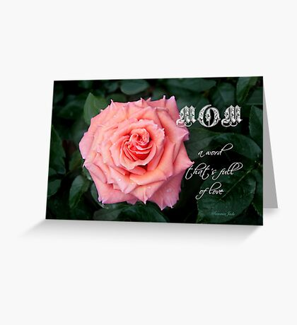 Love ~ In a Single Rose Greeting Card
