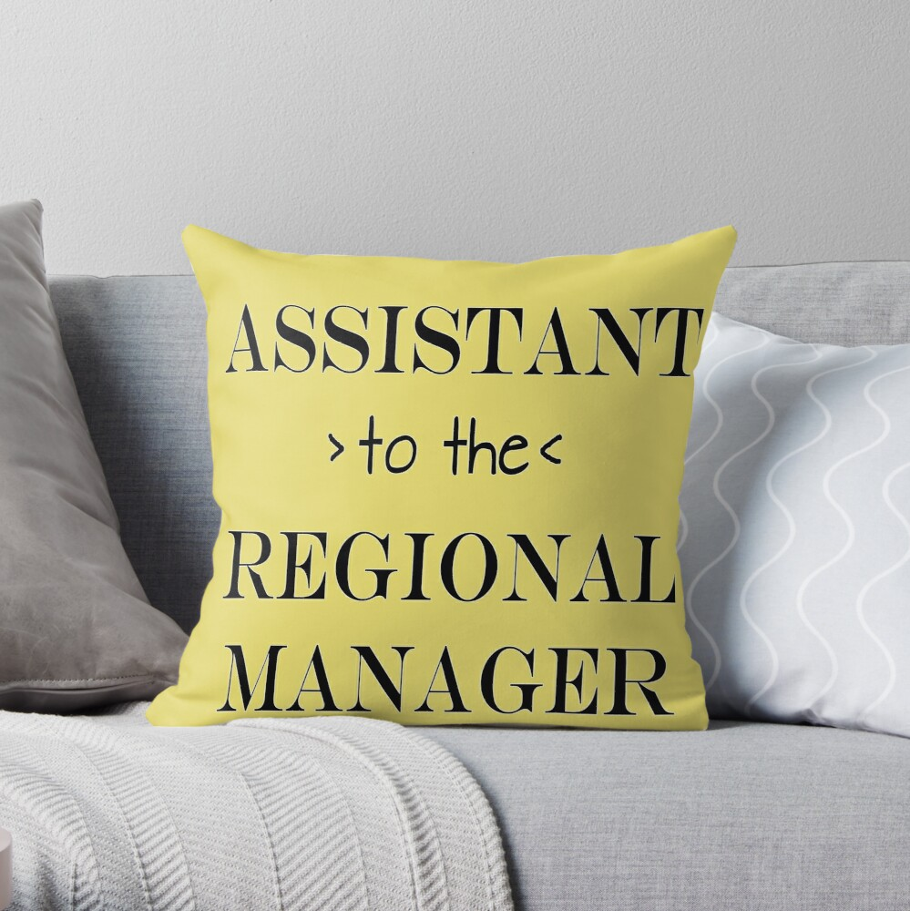 Assistant (to the) Regional Manager Throw Pillow