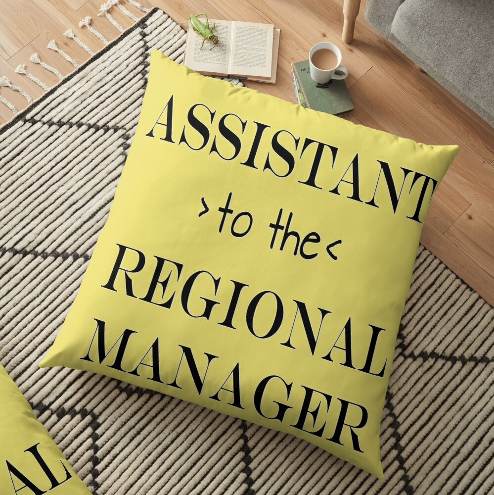 Assistant (to the) Regional Manager Floor Pillow