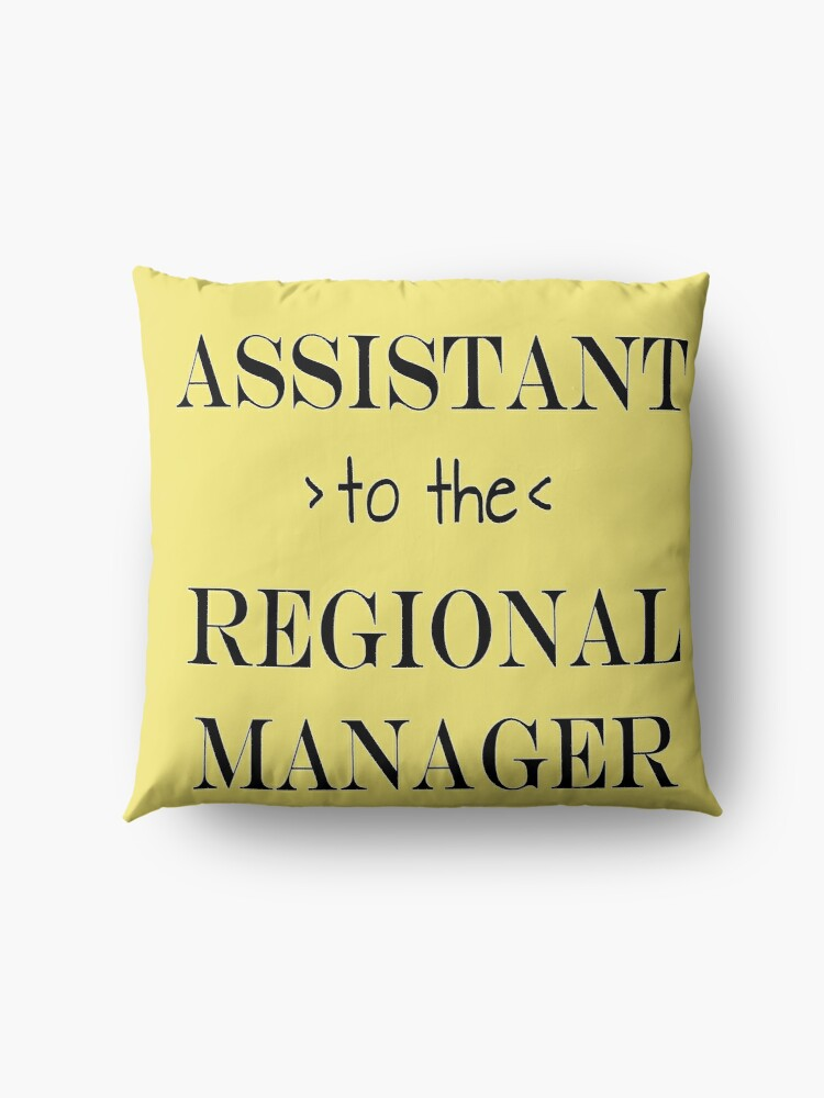 Alternate view of Assistant (to the) Regional Manager Floor Pillow