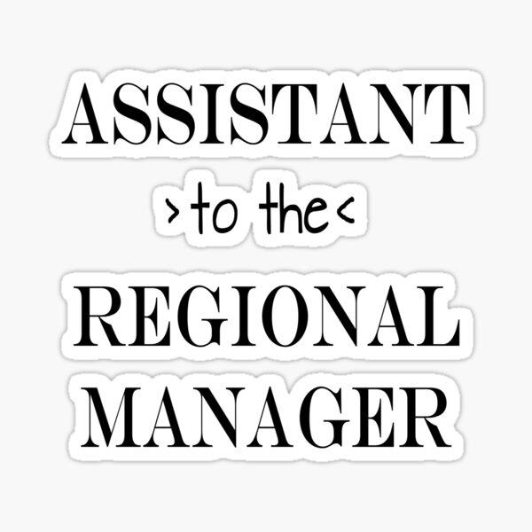 Assistent (zum) Regional Manager Sticker