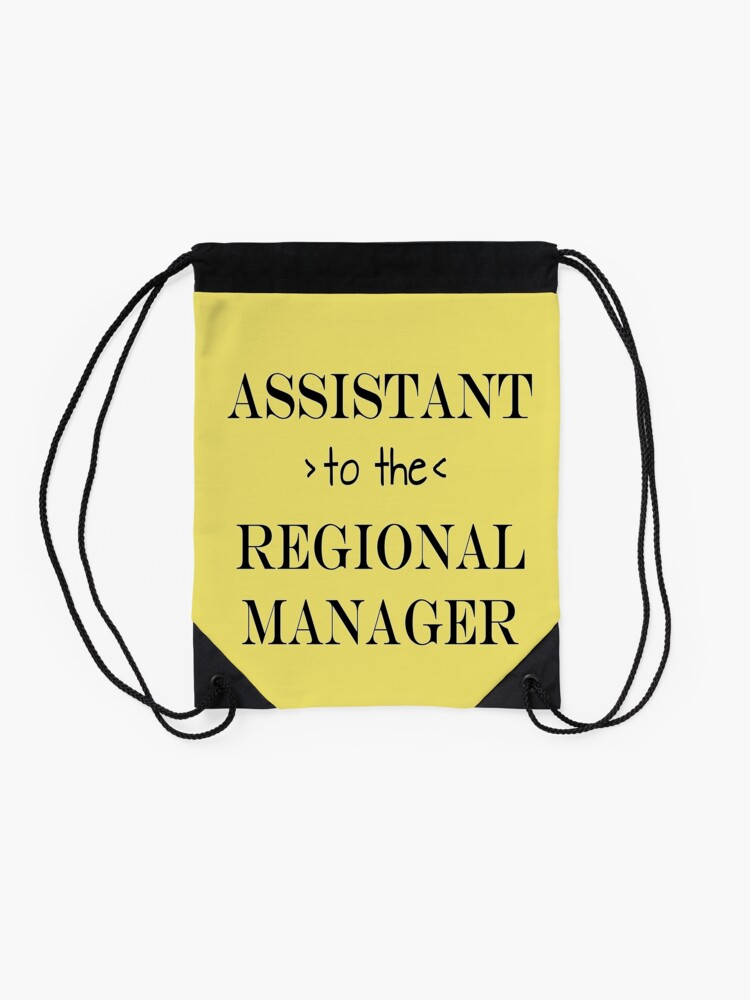 Alternate view of Assistant (to the) Regional Manager Drawstring Bag