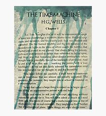 The Time Machine by H.G. Wells Watercolour Tribute Photographic Print