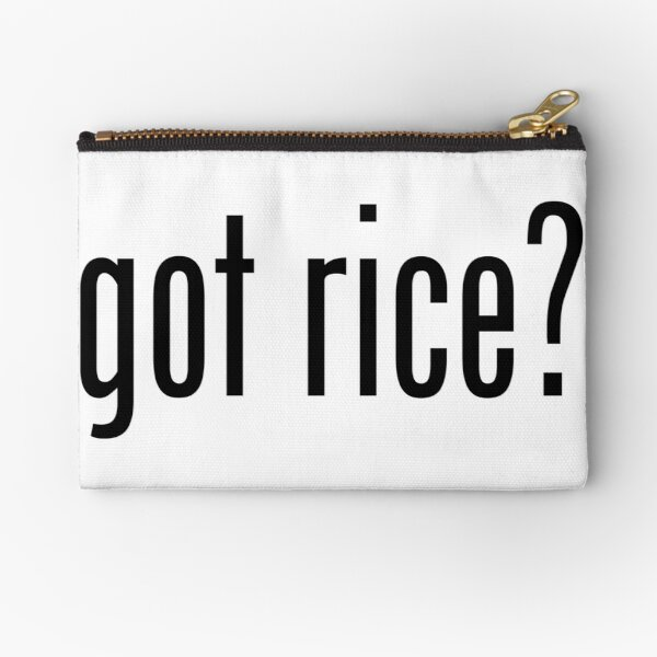Got Rice Filipino Food Humor by AiReal Apparel Zipper Pouch