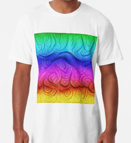 Color Foam levels #DeepDream Long T-Shirt