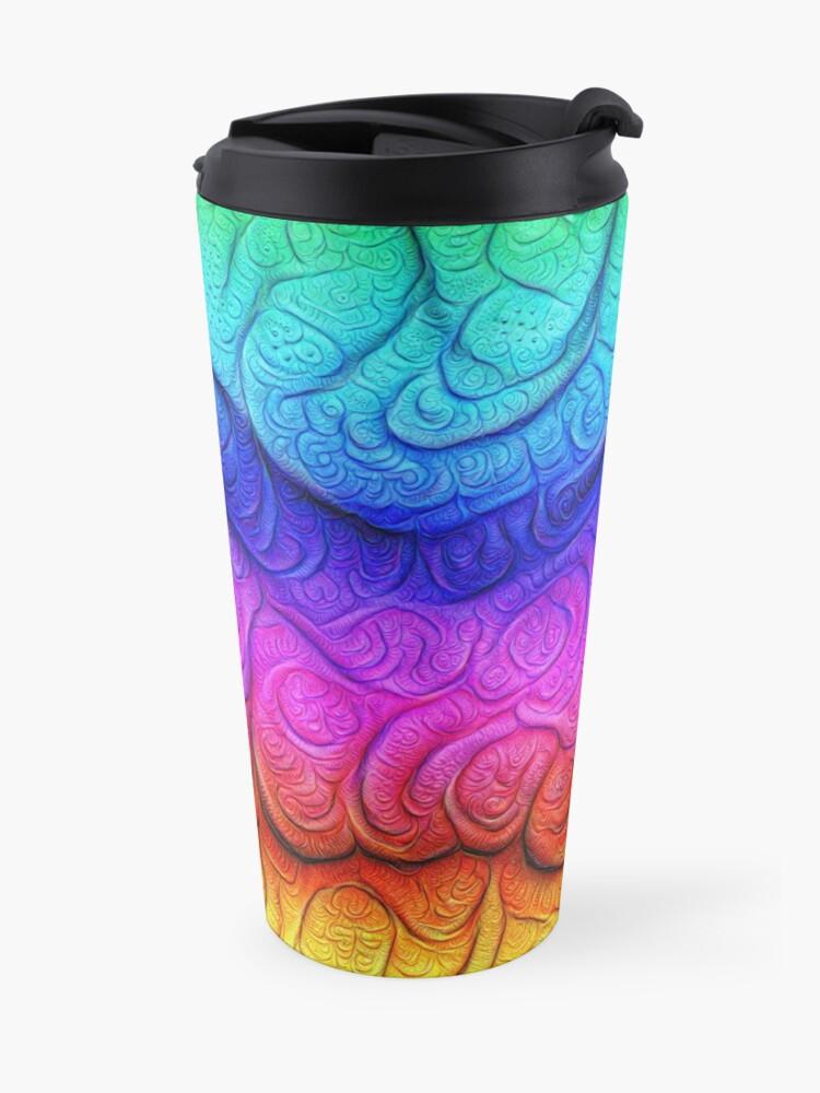 Alternate view of Color Foam levels #DeepDream Travel Mug