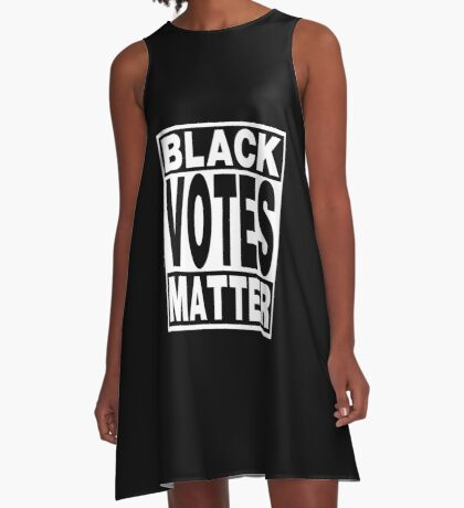 Black Votes Matter A-Line Dress