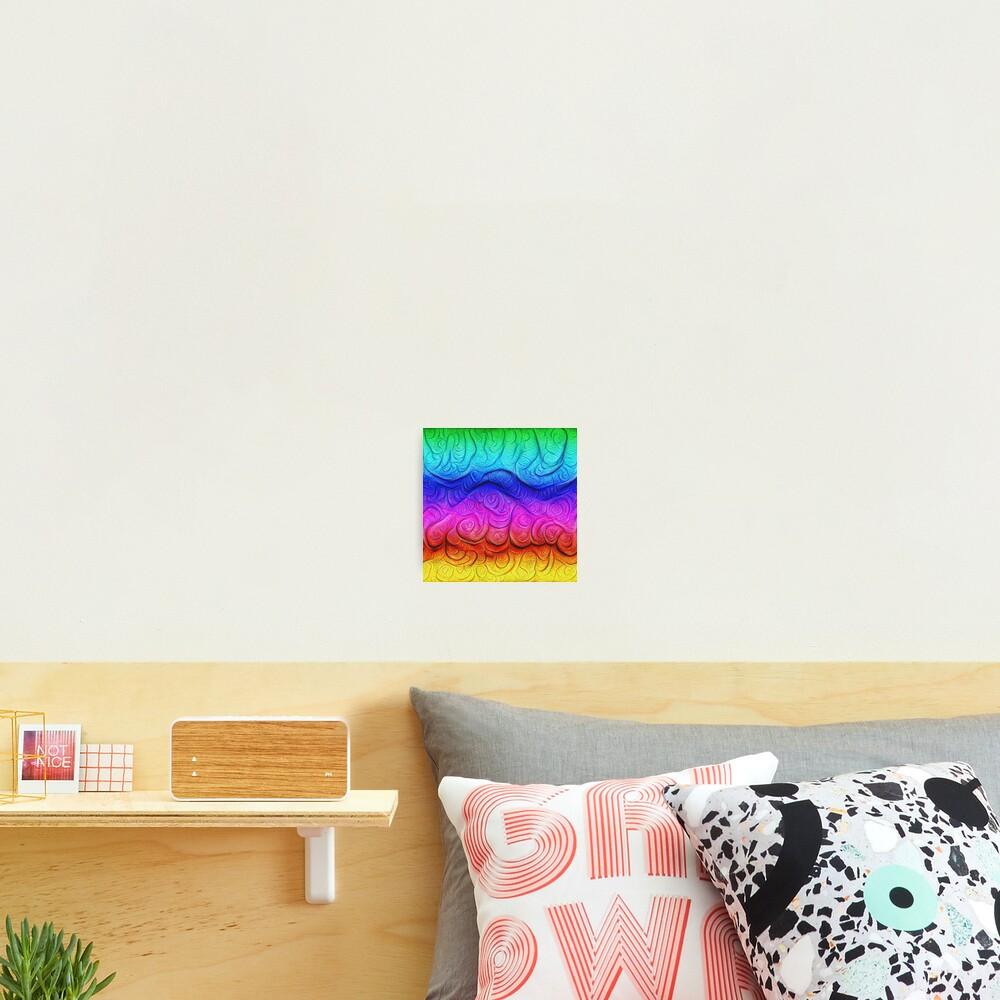 Color Foam levels #DeepDream Photographic Print