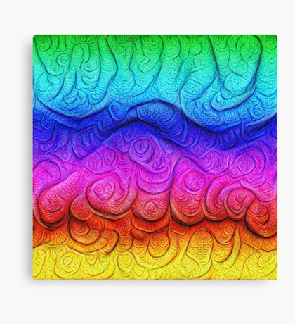 Color Foam levels #DeepDream Canvas Print