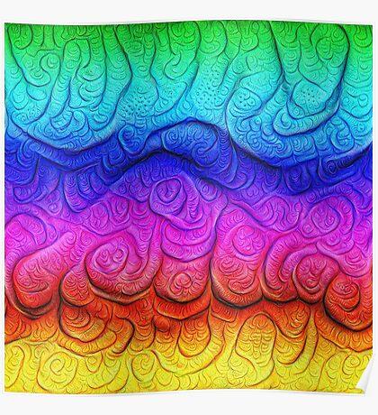 Color Foam levels #DeepDream Poster